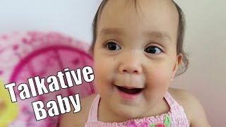 Talkative Baby!!! - June 20, 2015 -  ItsJudysLife Vlogs
