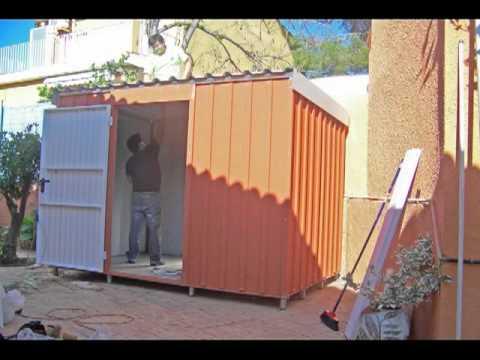 Montaje de trastero met lico youtube for Casas de chapa para jardin