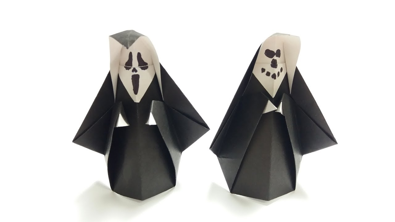 Easy Origami Ghost Tutorial For Halloween - Paper Kawaii | 720x1280
