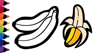 바나나 그리기 과일 색칠놀이 How to draw a …