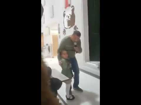 Uncle Sam - Soldier Dad Surprises Daughter As School Mascot