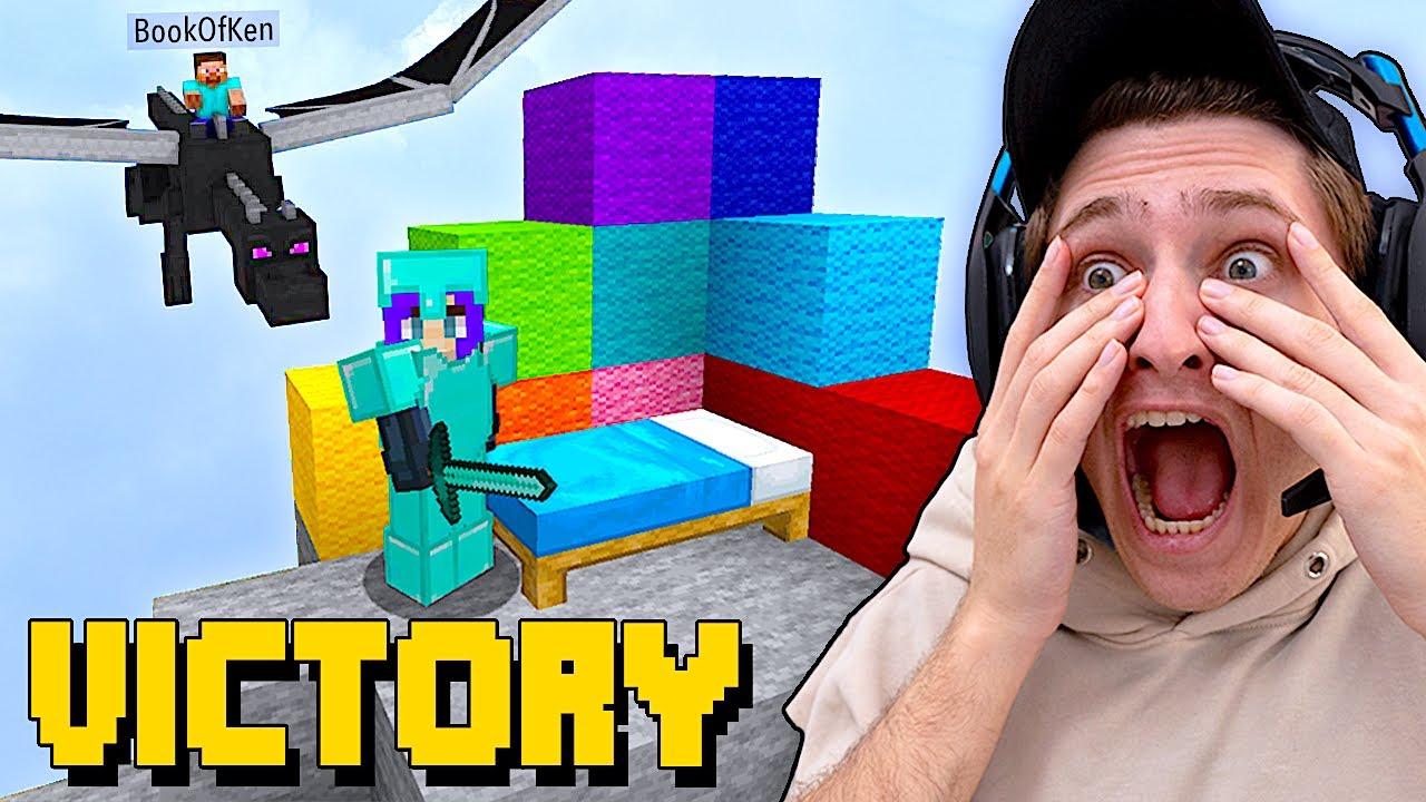 Accidentally Won My 1st Game Of Minecraft Bed Wars w/ Girlfriend BookOfCarley