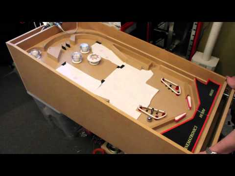 3D Pinball Space Cadet -- Testing flippers and slingshots