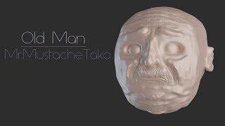 Sculpting in Blender - Old Man (timelapse)