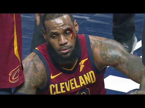 LeBron James Injury | Cavaliers vs Pacers - Game 6 | April 27, 2018 | 2018 NBA Playoffs