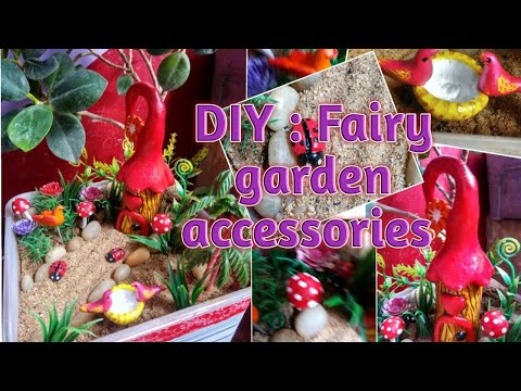 DIY : Fairy Garden Accessories // How To Make Fairy Garden Minitures At Home