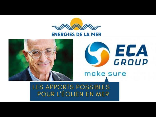Hervé Guillou présente les apports possibles d'Eca Group pour l'éolien en mer.