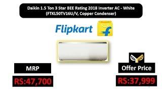 Daikin 1.5 Ton 3 Star BEE Rating 2018 Inverter AC - White (FTKL50TV16U/V, Copper Condenser)