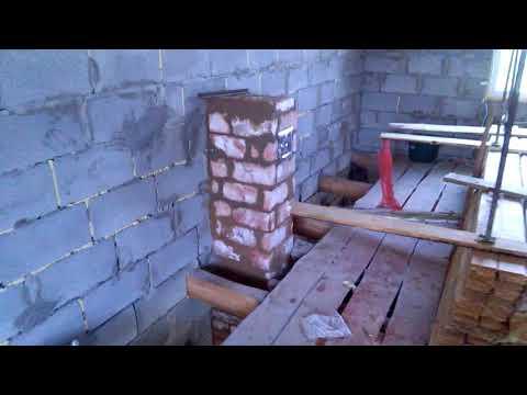 Печь на 5 ходов с варочной поверхностью и духовкой,  для дачного дома 64м2
