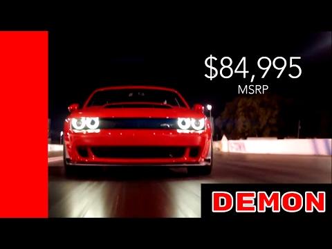 2018 Dodge Chellenger SRT Demon Price MSRP Official