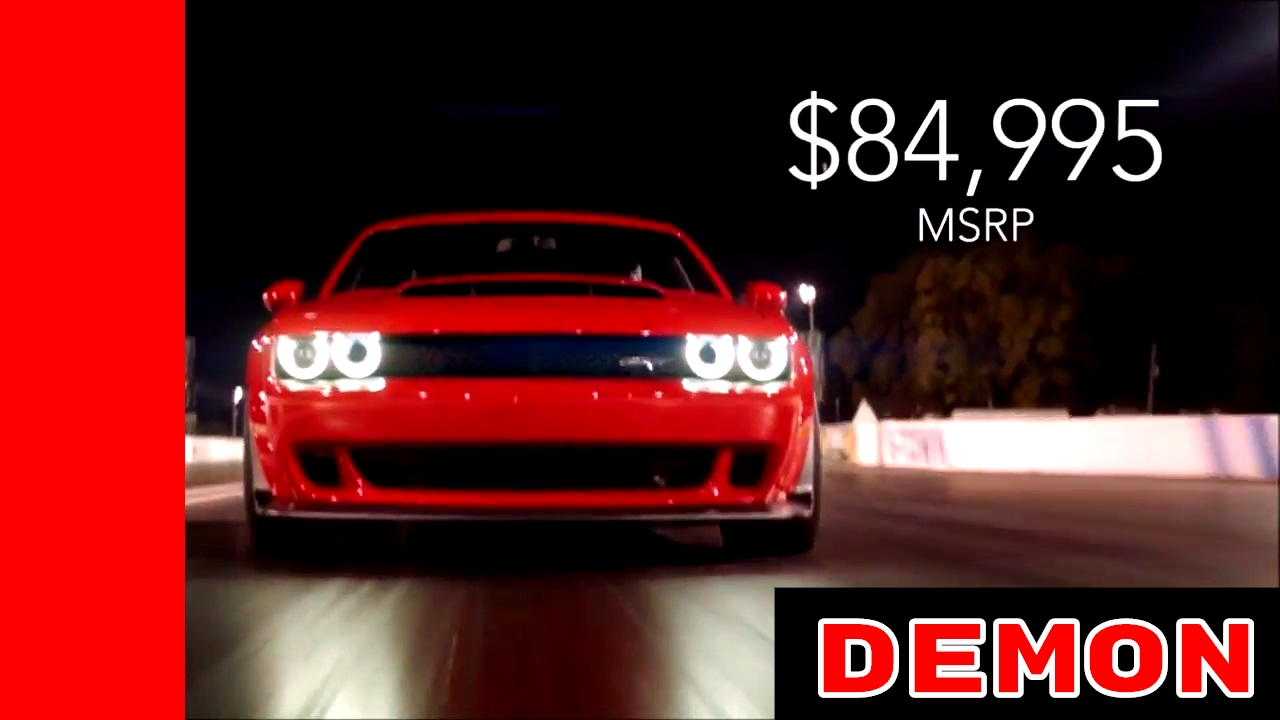 Challenger Srt Demon >> 2018 Dodge Chellenger SRT Demon Price MSRP Official - YouTube