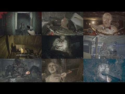 RESIDENT EVIL 7 BIOHAZARD - MADHOUSE 全ボス戦・ノーダメージ動画集/Madhouse ALL BOSS Fights No Damage Collection