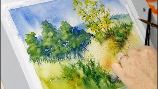Watercolor Landscape by Steve Mitchell