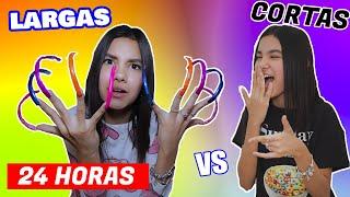UÑAS SUPER EXTRA LARGAS VS CORTAS | TV Ana Emilia