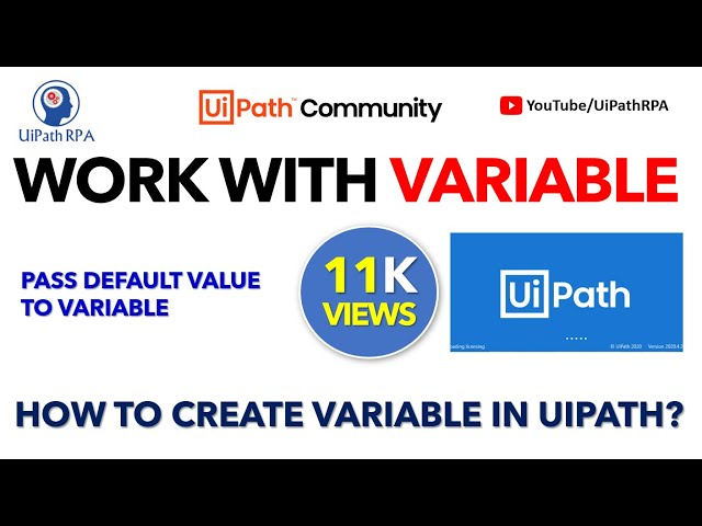 Create Variable UiPath and Pass Default Value in UiPath|UiPath RPA Tutorial in Hindi