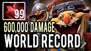 WORLD RECORD! Goblin Techies 96 Kills 600k DAMAGE! The Longest Game in The World! Patch 7.01 Dota 2