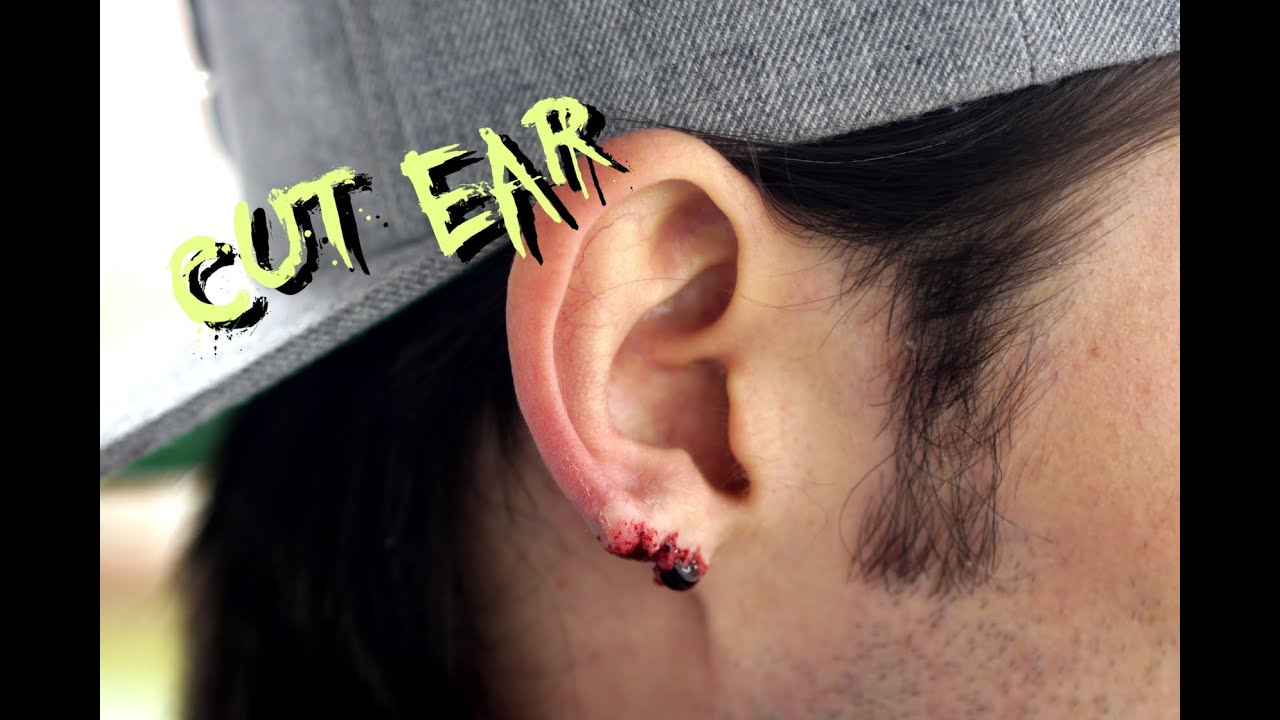 Special Effects Makeup Torn Ear Wound Youtube
