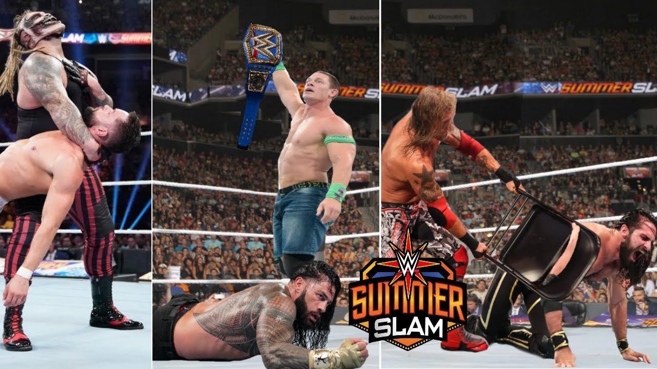 WWE SummerSlam 25th July 2021 Highlights, Roman reigns Vs John Cena   The Fiend Attacks Finn Balor