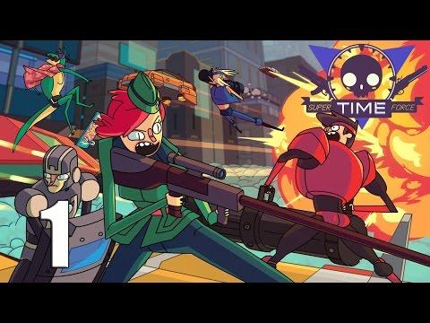 Super Time Force Ultra || Side-Scrolling Action Shooter / Platformer  || Part 1