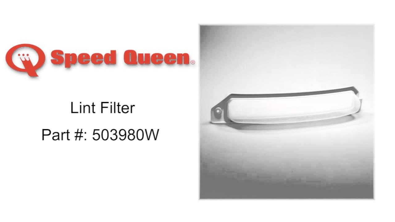 Speed Queen Lint Filter Part 503980w Youtube