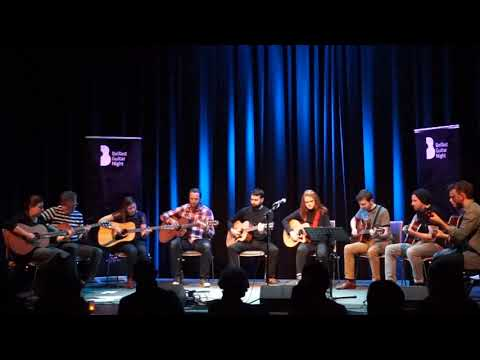 Fingerstyle Guitar Students Performing Fleetwood Mac's Rhiannon at the Belfast Guitar Night