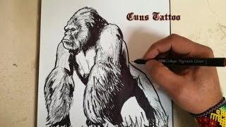 COMO DIBUJAR A KONG - LA ISLA CALAVERA / how to draw kong - skull island
