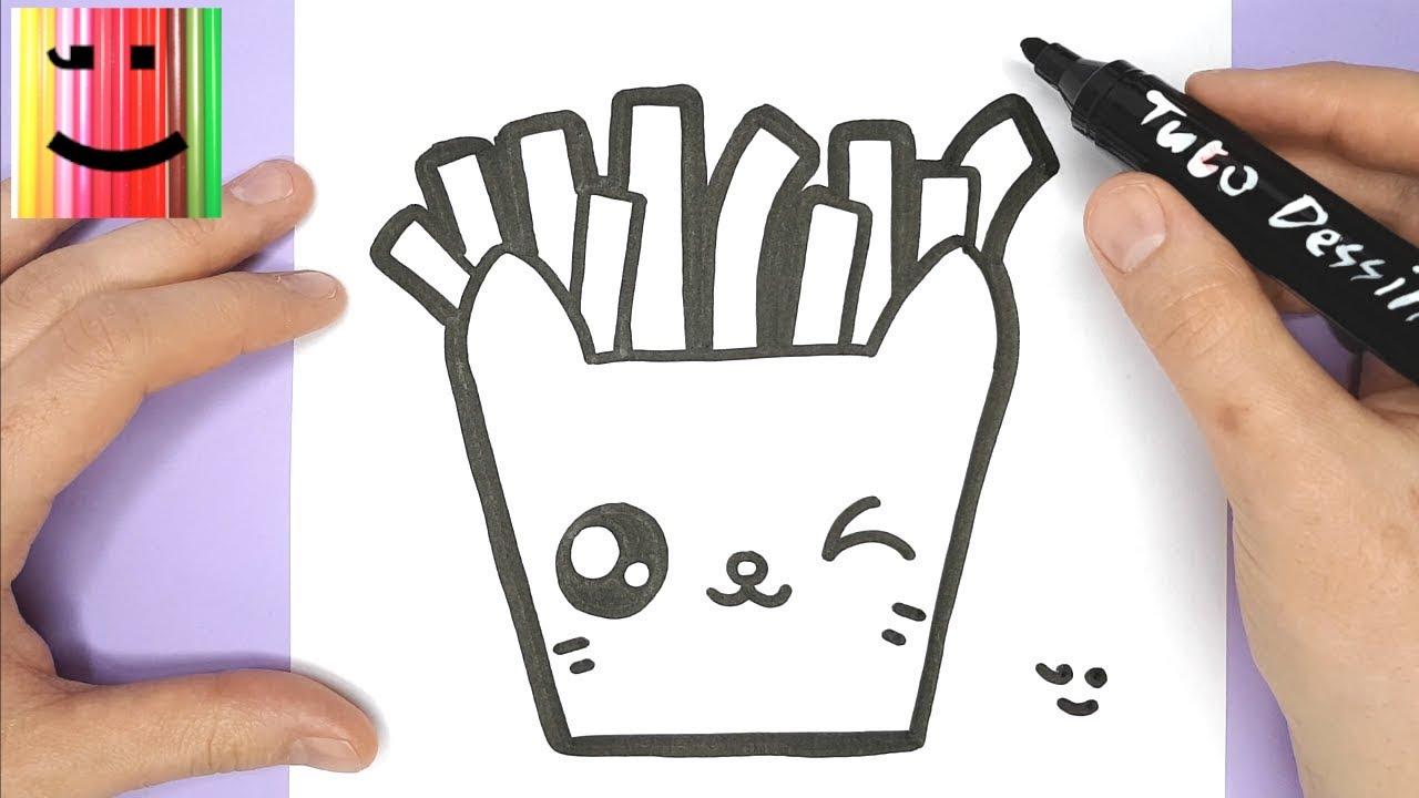 Comment dessiner et colorier un paquet de frites en forme de chat tuto dessin youtube - Comment dessiner un bebe chat ...