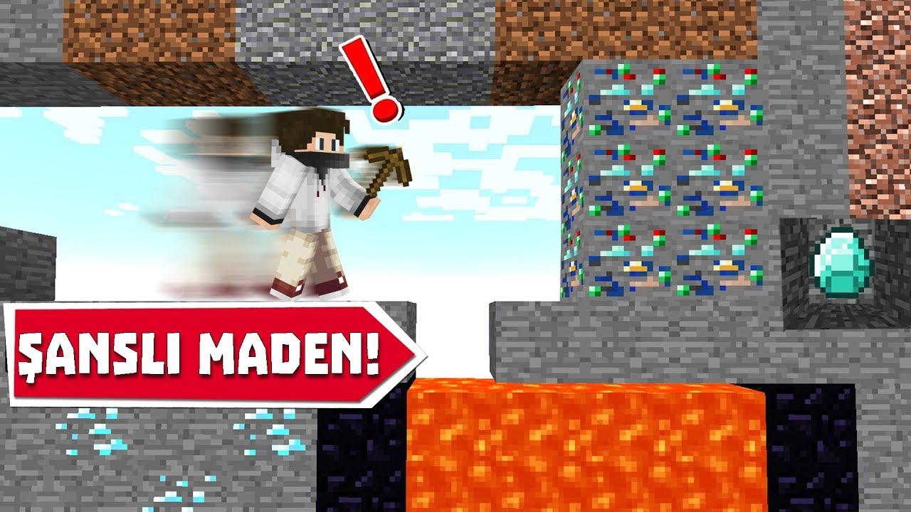 MİNECRAFT ama ŞANSLI MADENLER - Minecraft Mod