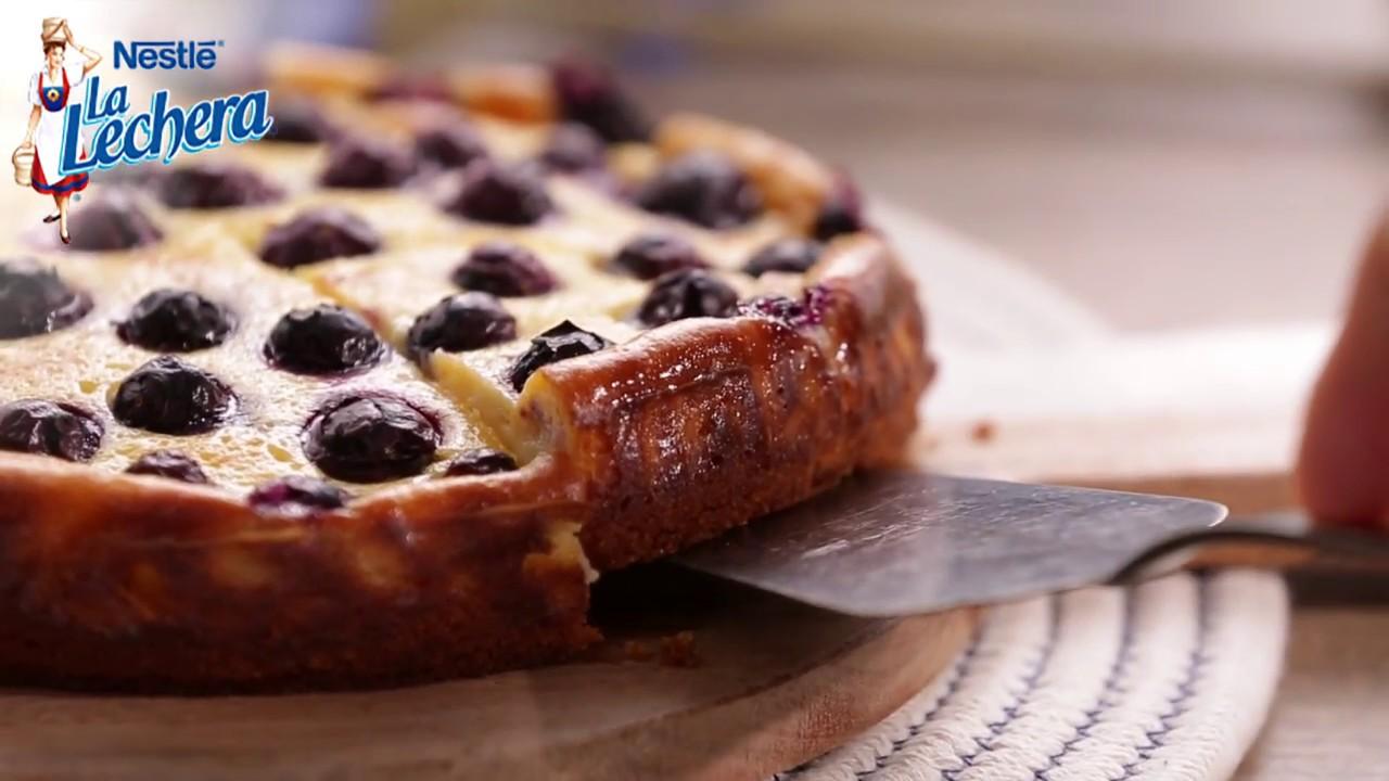 Tarta de queso con ar ndanos postres la lechera youtube for Cocinar en 5 minutos