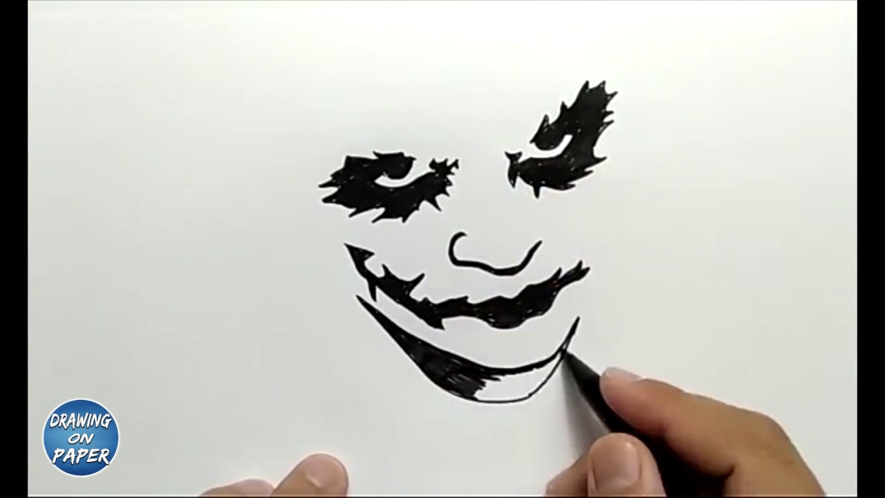 "How to Draw SILHOUETTE JOKER ""Why So Serious?"" - Drawing ..."