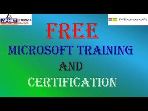 get free microsoft training and certifications its totally free