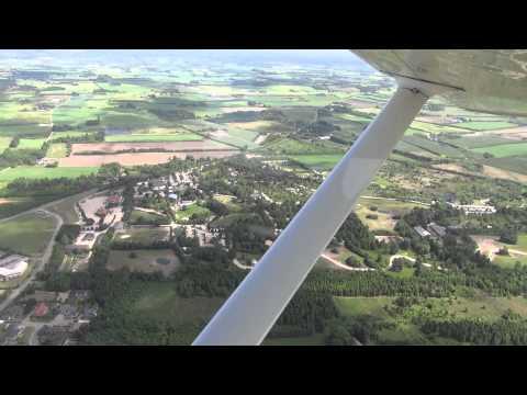 Scenic flight over Summer Denmark