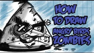 How to draw ANGRY BIRDS ZOMBIES! #2