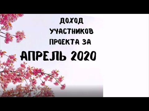 Реальный заработок участников проекта Платформа. Апрель 2020 год.