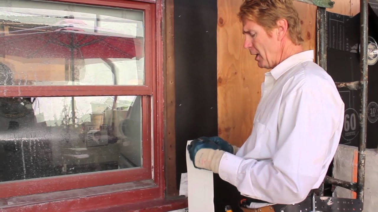 Adding New Flashing Paper On Old Wooden Windows Youtube