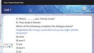 İNGİLİZCE II - Ünite1- Çıkmış sınav soruları - Soru5
