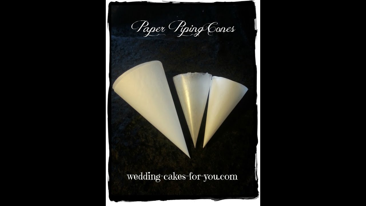 How To Make Cake Decoration Cone : Parchment Paper Piping Bag - YouTube