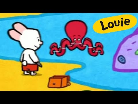 Octopus - Louie draw me an octopus | Learn to draw, cartoon for children