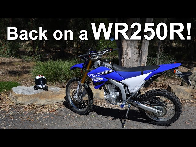 Back on a Yamaha WR250R!