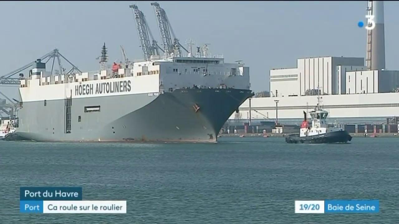 Le Trafic Roulier Du Port Du Havre En Bonne Forme Youtube