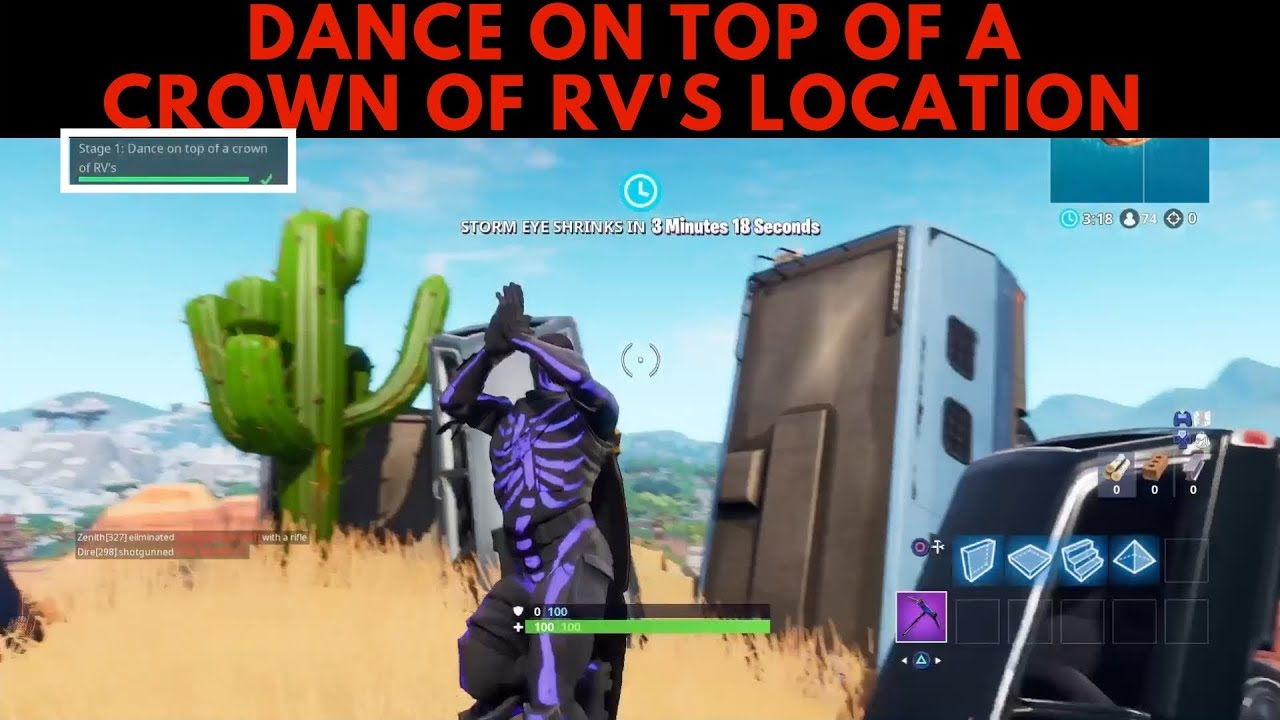 Dance On Top Of A Crown Of Rv S Location Guide Season 7 Fortnite