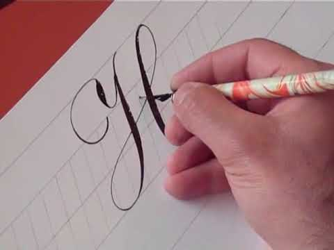 How To Write Copperplate The Letters H And