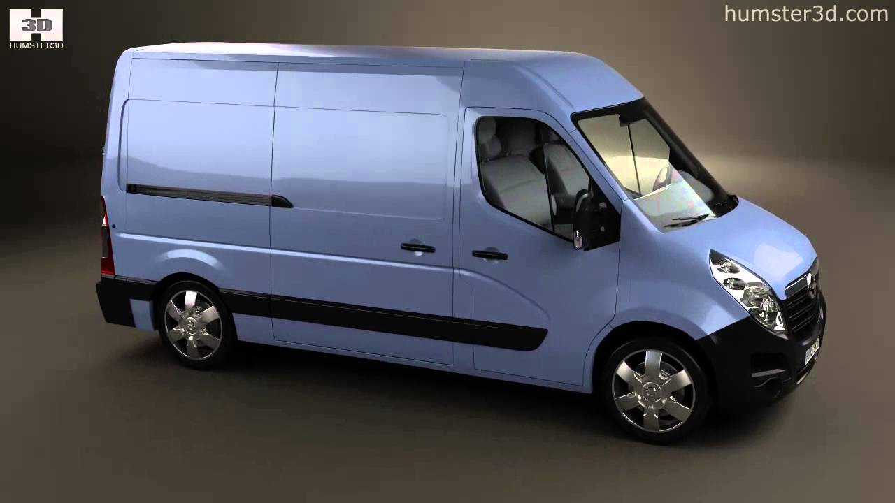 opel movano panel van 2010 by 3d model store youtube. Black Bedroom Furniture Sets. Home Design Ideas
