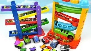 Learn Video Kids Toddler Learning Colors Children Toy Marble Gumball Maze Ramp Superhero Race Cars