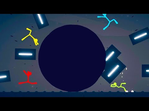 We Used Black Holes To Destroy The Map In Stick Fight