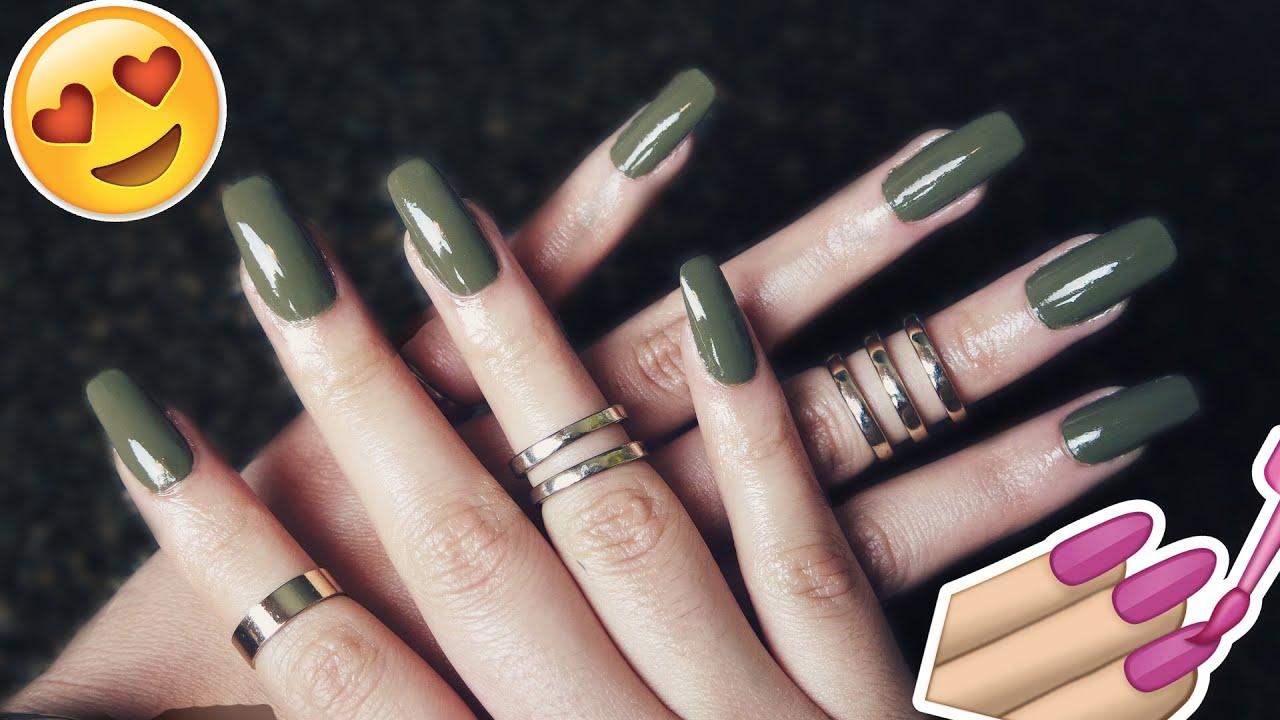 diy super easy fake nails tutorial