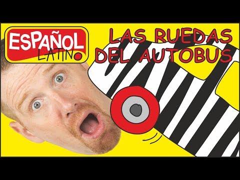 Las Ruedas del Autobús | Aprender con Steve and Maggie Español Latino | Wheels on the Bus