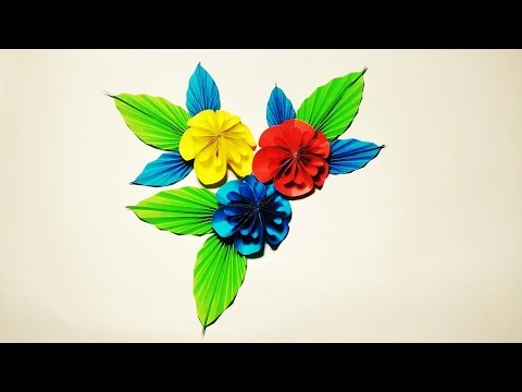 How to make a Kusudama Paper Flower   Easy origami Kusudama for beginners making