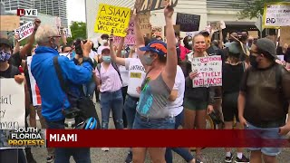 Protests pick up again in Miami on Tuesday afternoon