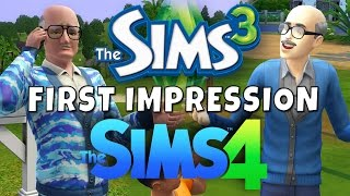Sims 4 vs Sims 3 - First Impression